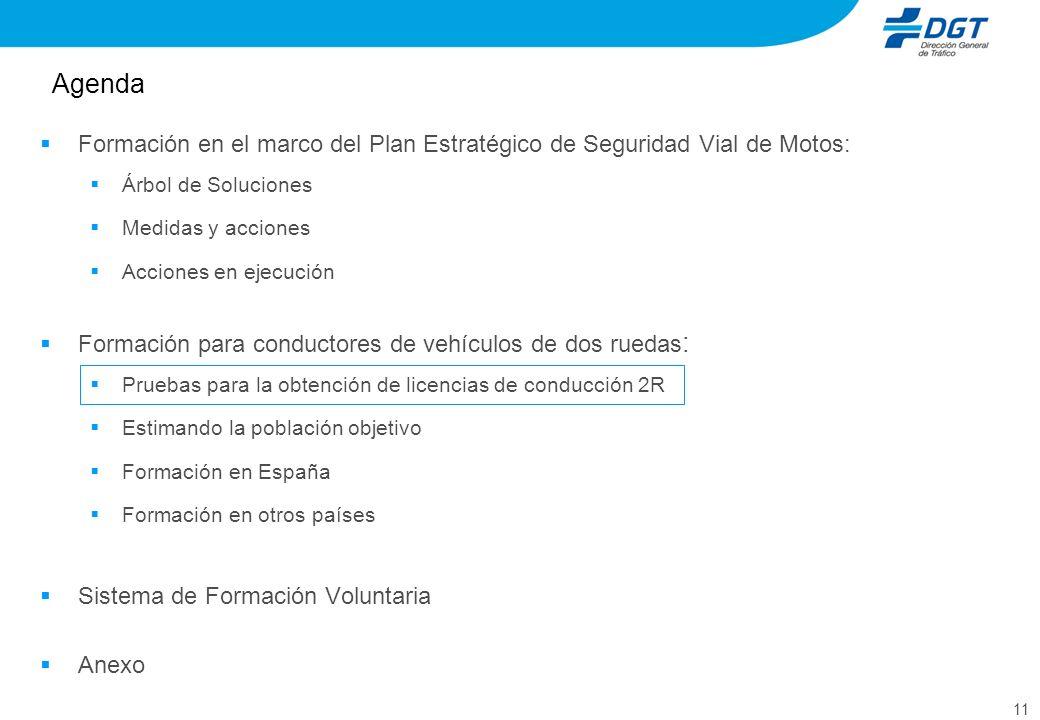 Agenda Formación en el marco del Plan Estratégico de Seguridad Vial de Motos: Árbol de Soluciones.