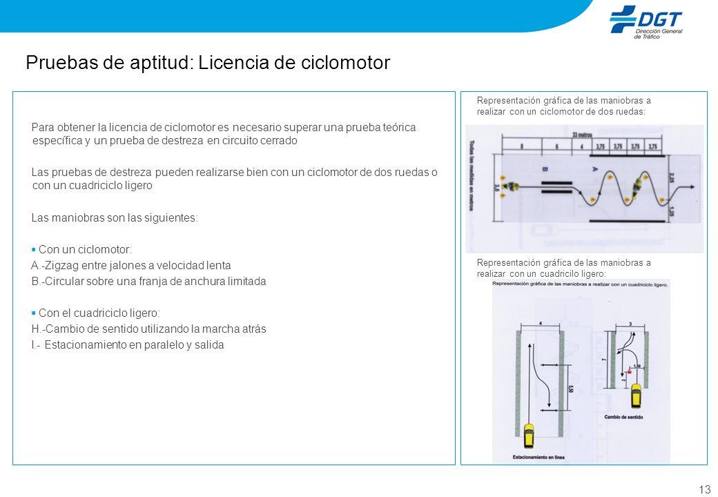 Pruebas de aptitud: Licencia de ciclomotor
