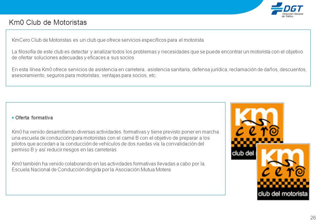Km0 Club de Motoristas KmCero Club de Motoristas es un club que ofrece servicios específicos para el motorista.