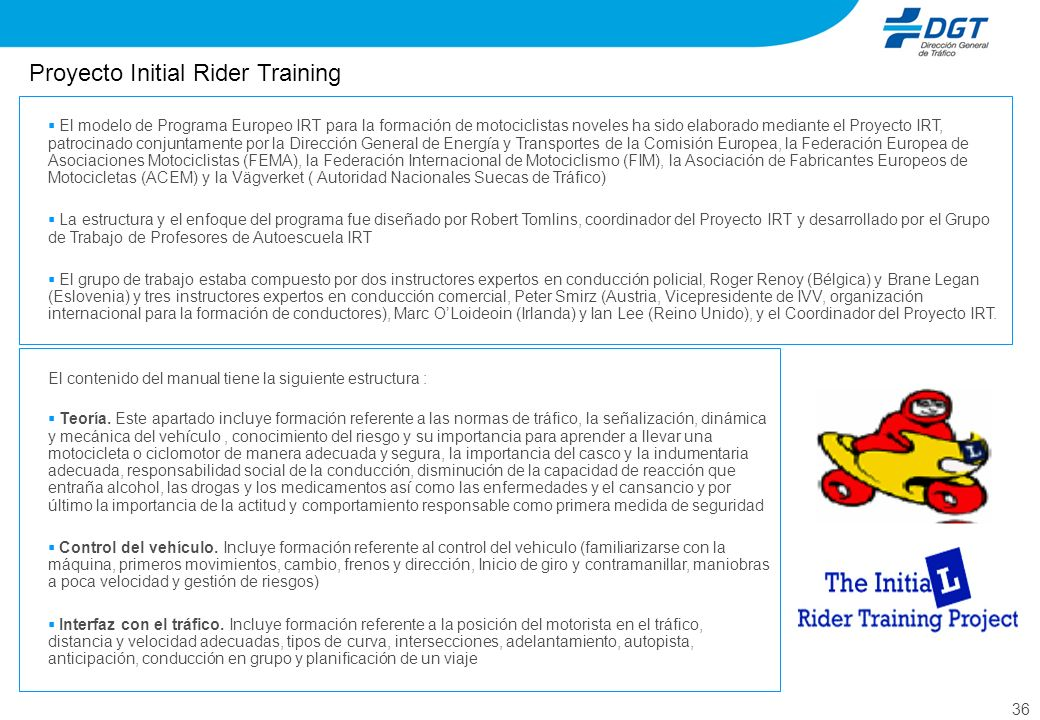 Proyecto Initial Rider Training