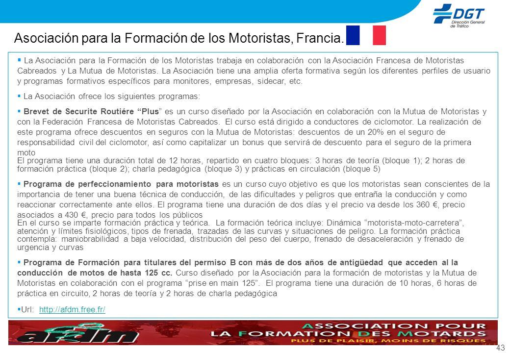 Asociación para la Formación de los Motoristas, Francia.
