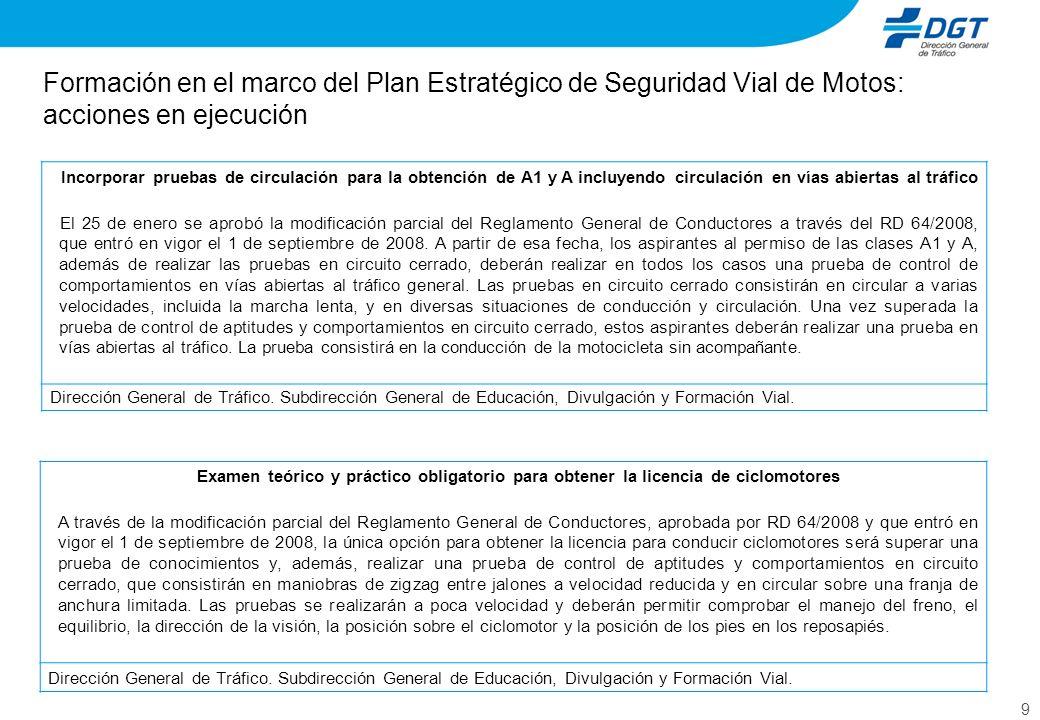Formación en el marco del Plan Estratégico de Seguridad Vial de Motos: acciones en ejecución