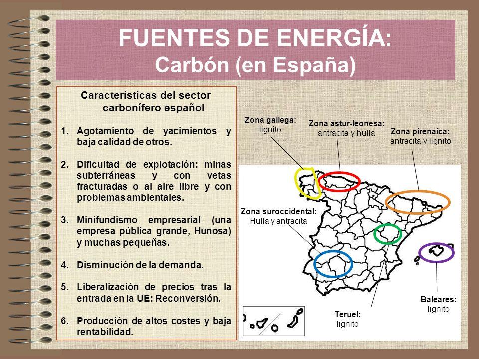 FUENTES DE ENERGÍA: Carbón (en España)