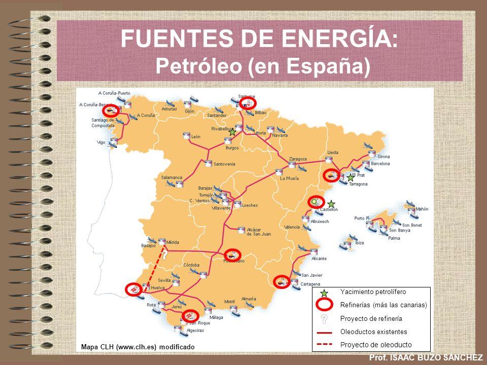 FUENTES DE ENERGÍA: Petróleo (en España)