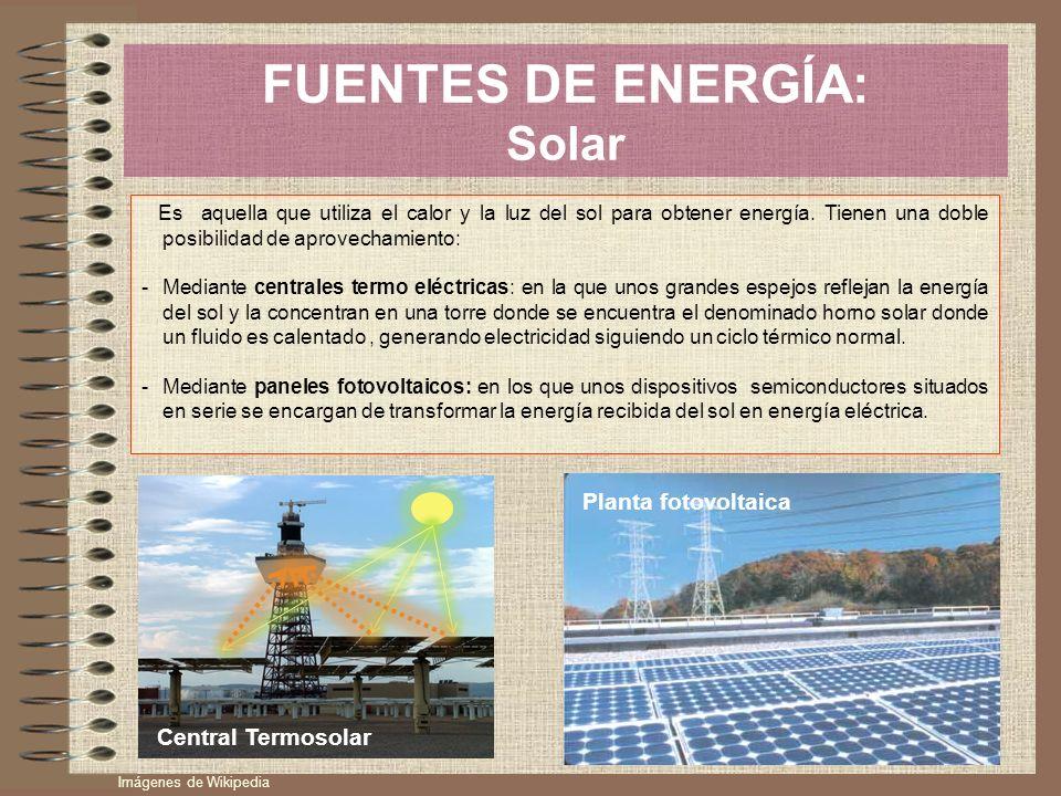 FUENTES DE ENERGÍA: Solar