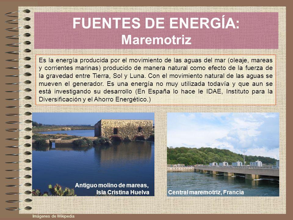 FUENTES DE ENERGÍA: Maremotriz