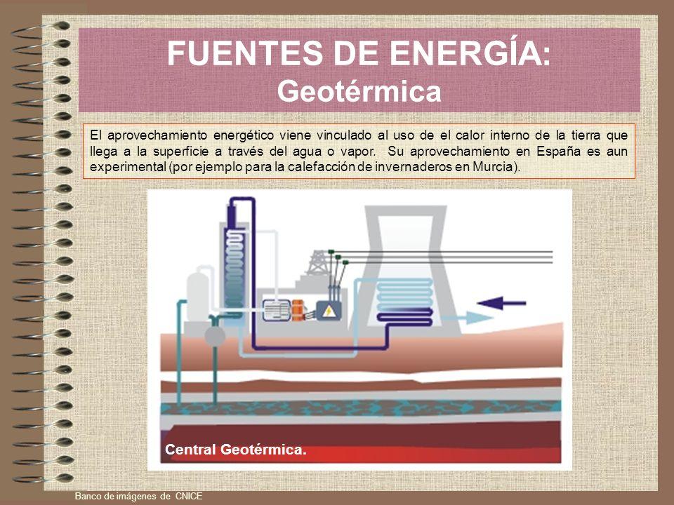 FUENTES DE ENERGÍA: Geotérmica