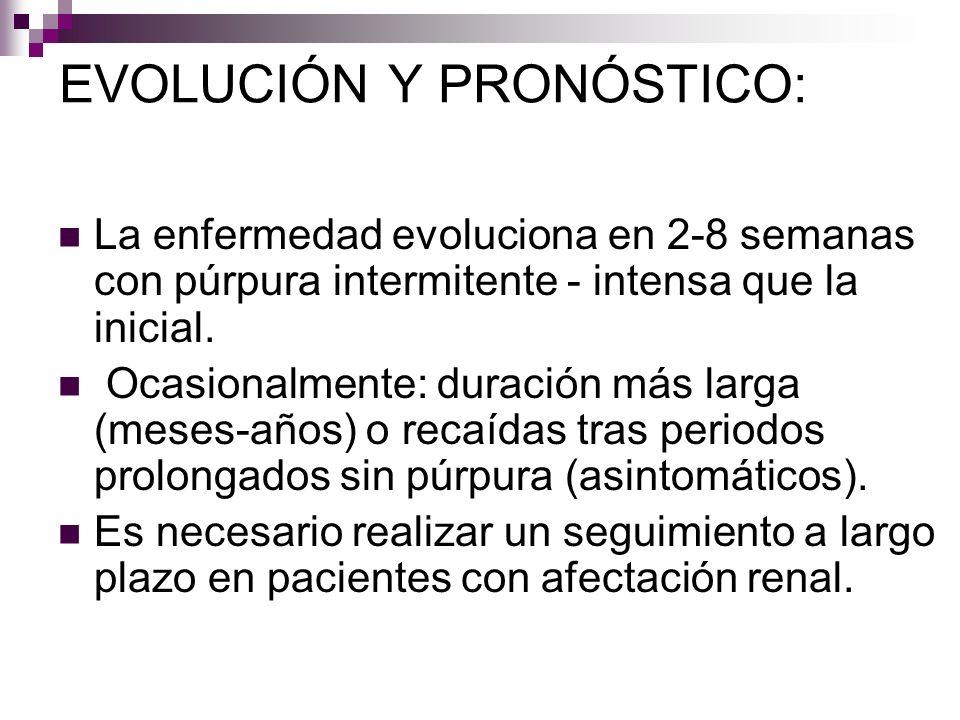 EVOLUCIÓN Y PRONÓSTICO:
