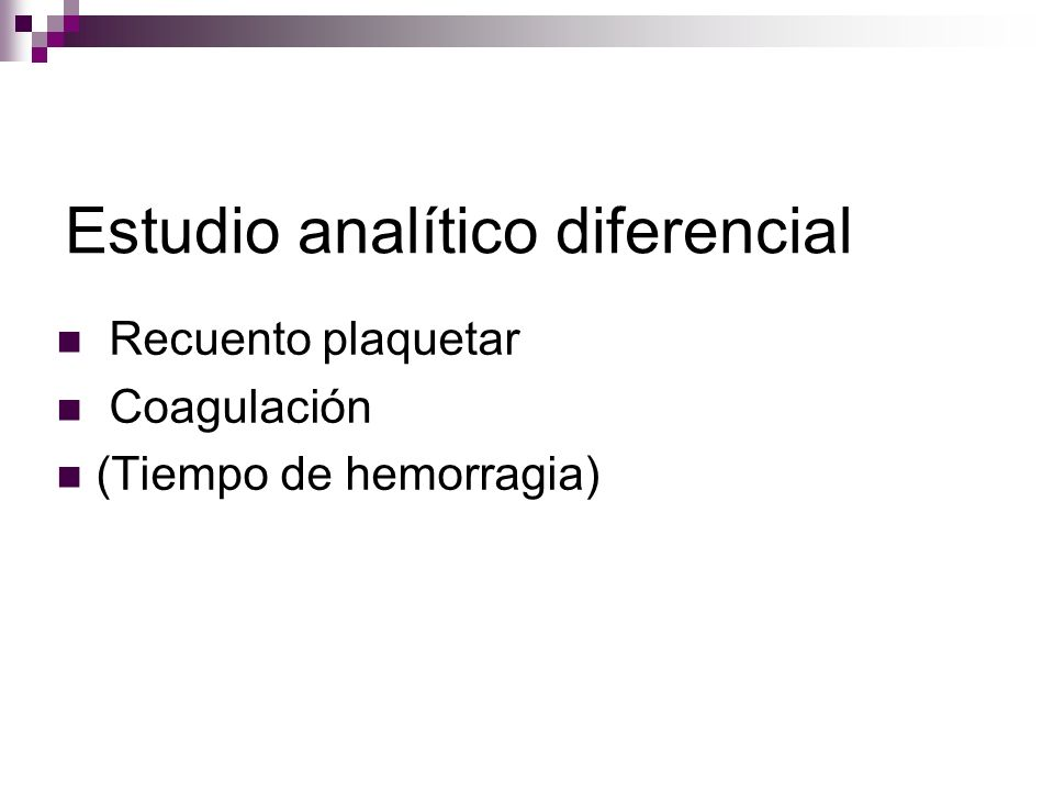 Estudio analítico diferencial