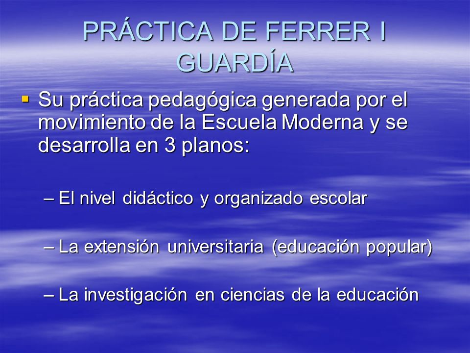 PRÁCTICA DE FERRER I GUARDÍA