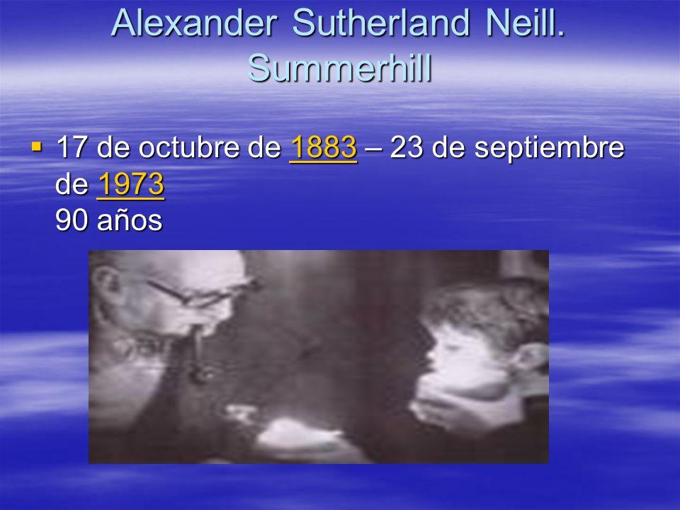 Alexander Sutherland Neill. Summerhill