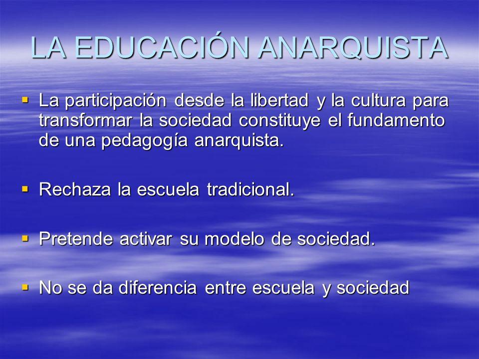 LA EDUCACIÓN ANARQUISTA
