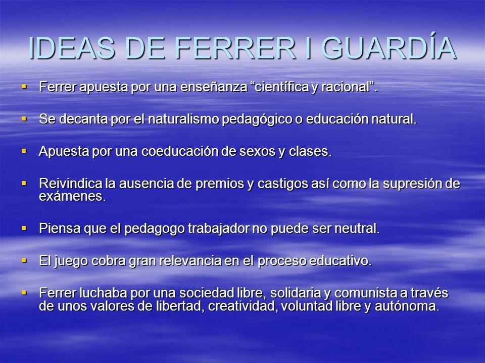 IDEAS DE FERRER I GUARDÍA