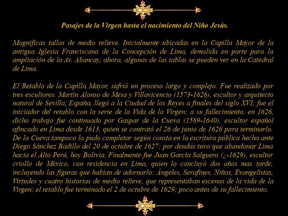 Pasajes de la Virgen hasta el nacimiento del Niño Jesús.