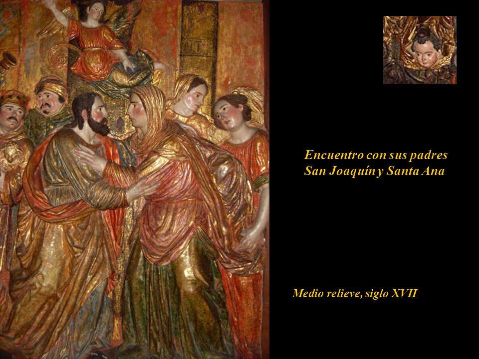 Encuentro con sus padres San Joaquín y Santa Ana