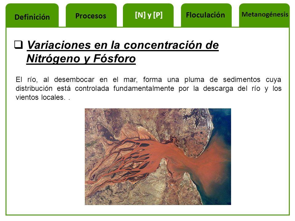 Variaciones en la concentración de Nitrógeno y Fósforo