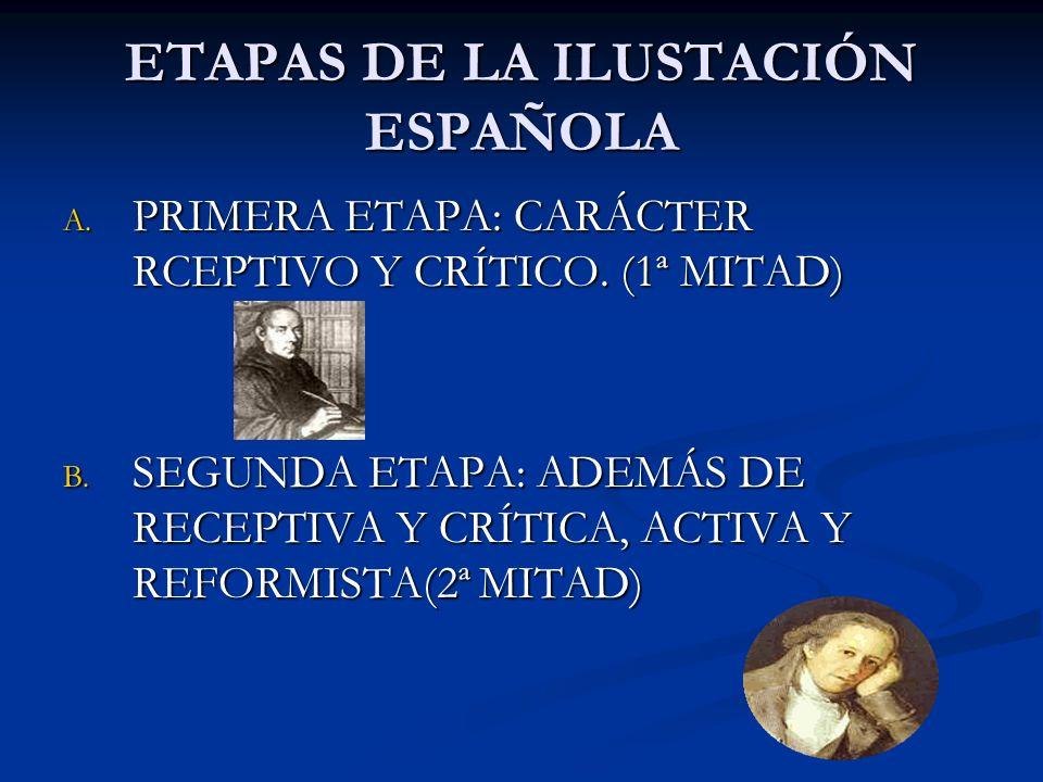 ETAPAS DE LA ILUSTACIÓN ESPAÑOLA