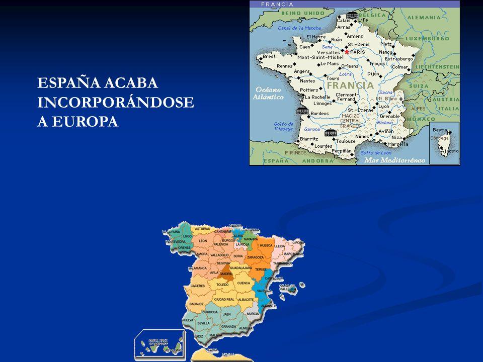 ESPAÑA ACABA INCORPORÁNDOSE A EUROPA