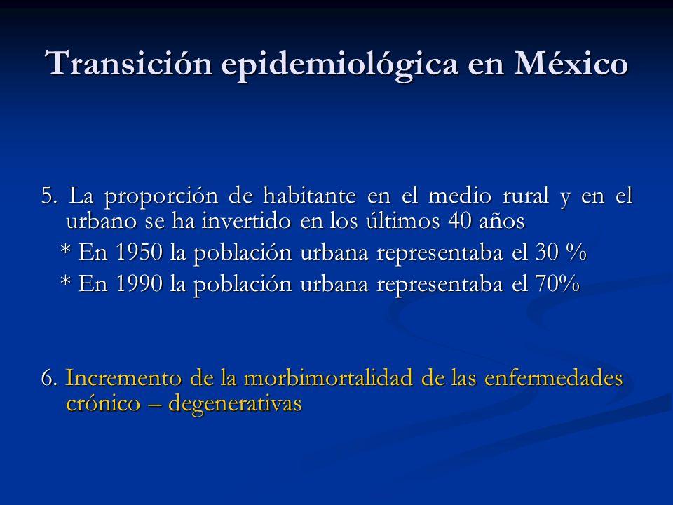 Transición epidemiológica en México
