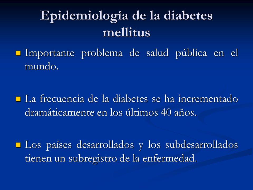 Epidemiología de la diabetes mellitus