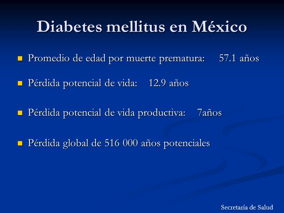 Diabetes mellitus en México