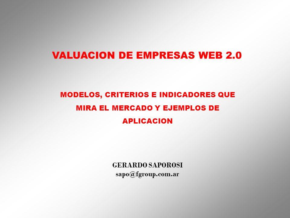 VALUACION DE EMPRESAS WEB 2.0