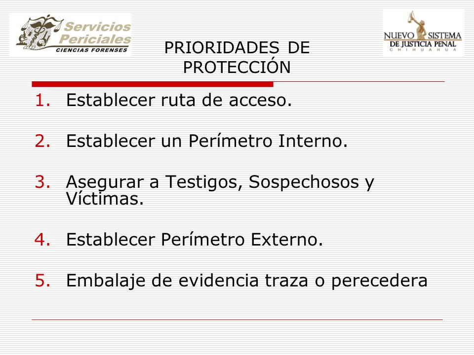 PRIORIDADES DE PROTECCIÓN