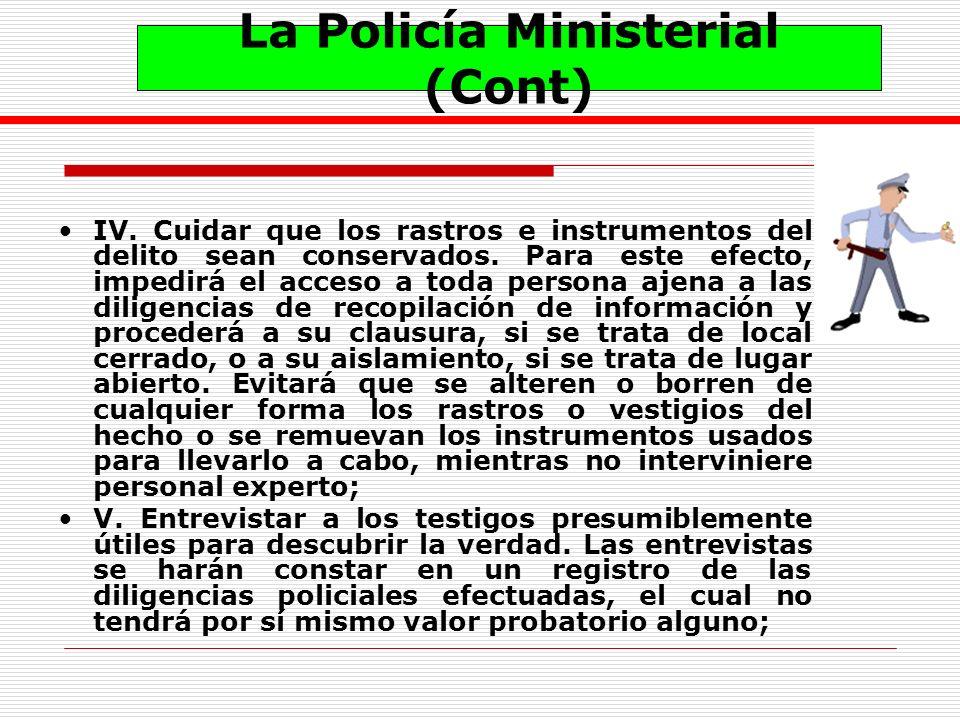 La Policía Ministerial (Cont)
