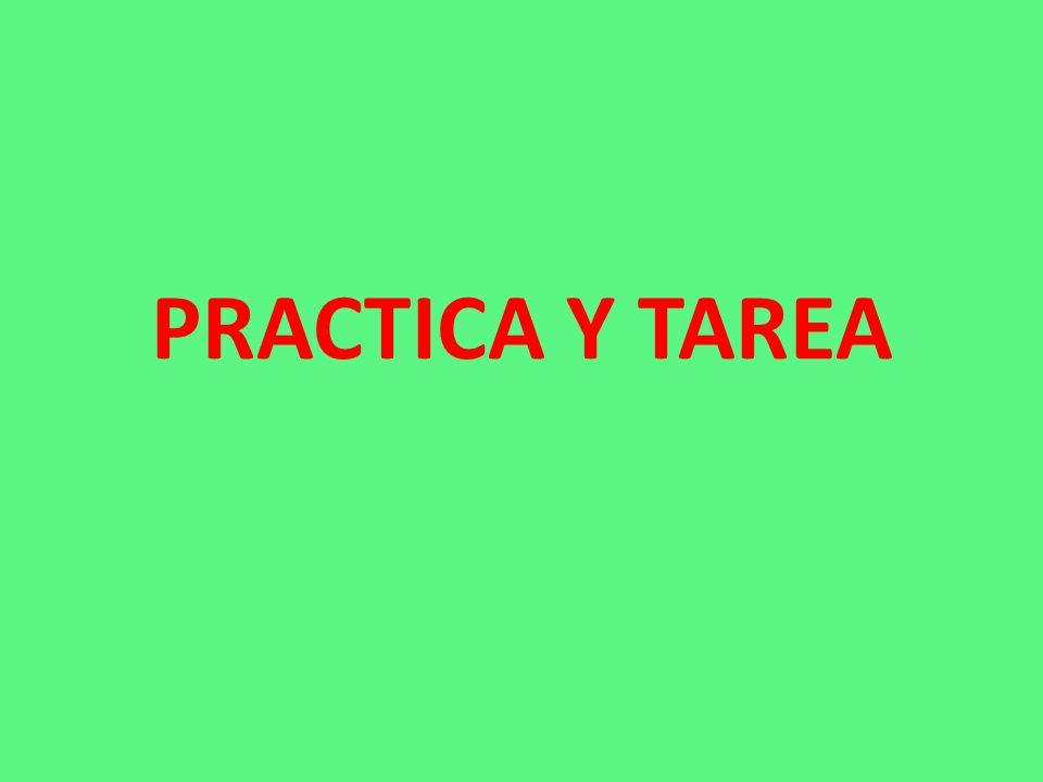 PRACTICA Y TAREA