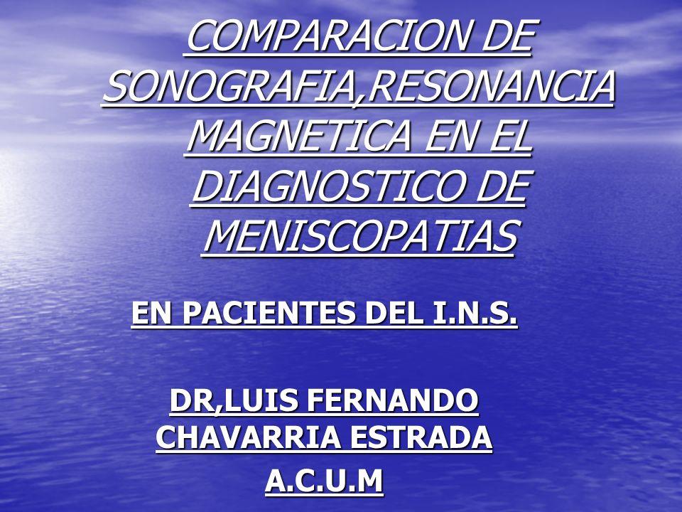 EN PACIENTES DEL I.N.S. DR,LUIS FERNANDO CHAVARRIA ESTRADA A.C.U.M