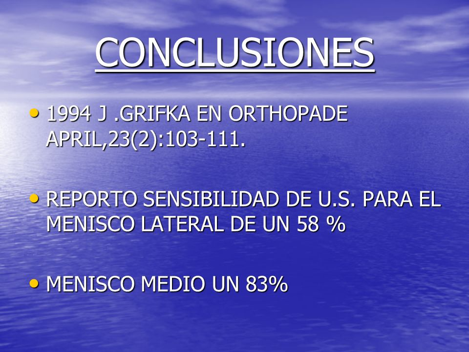 CONCLUSIONES 1994 J .GRIFKA EN ORTHOPADE APRIL,23(2):103-111.