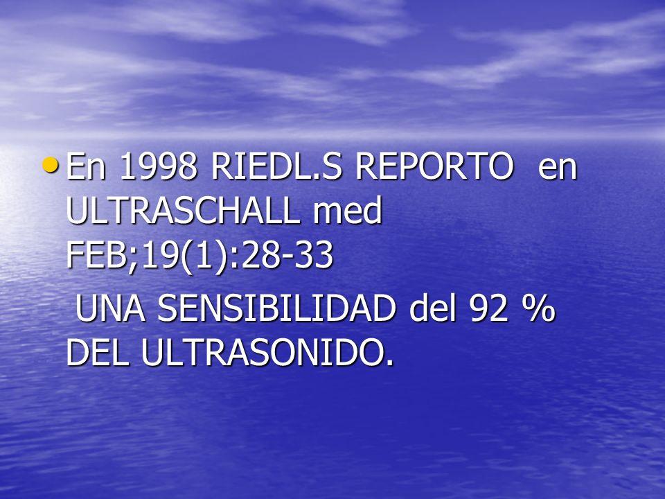 En 1998 RIEDL.S REPORTO en ULTRASCHALL med FEB;19(1):28-33
