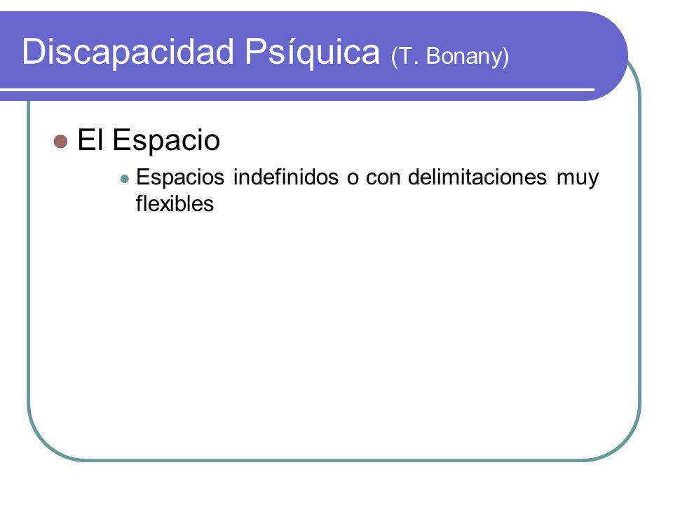 Discapacidad Psíquica (T. Bonany)
