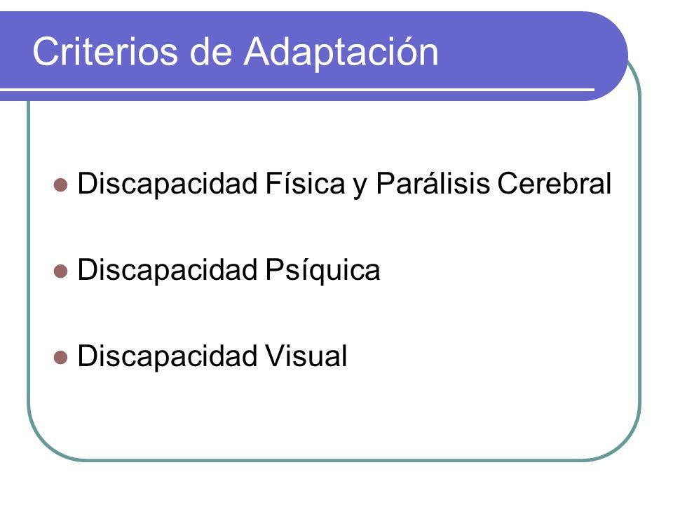 Criterios de Adaptación