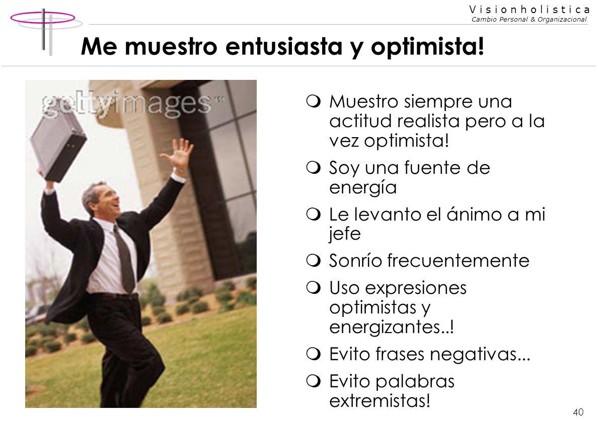 Me muestro entusiasta y optimista!