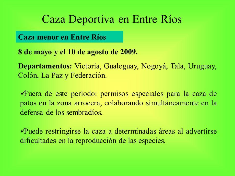 Caza Deportiva en Entre Ríos