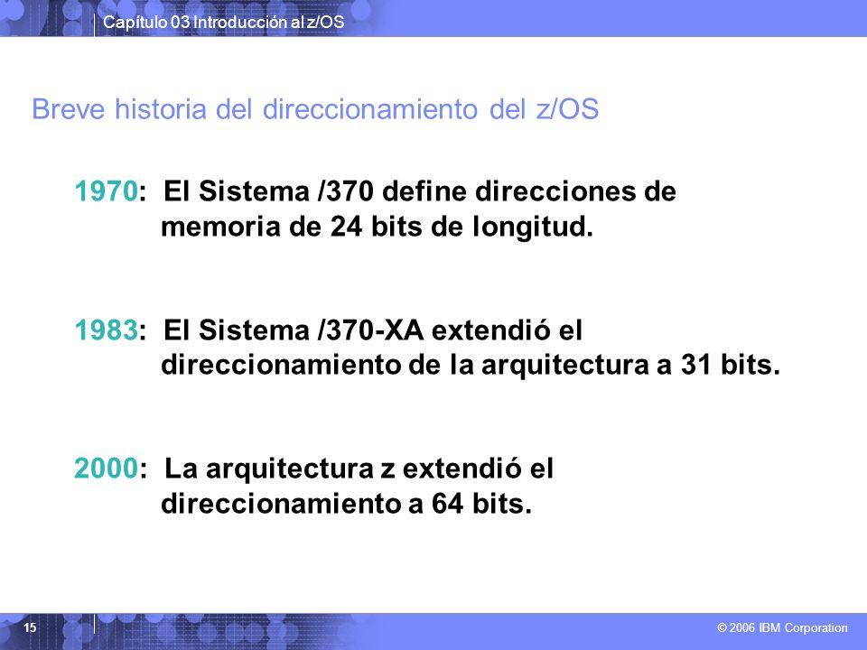 Breve historia del direccionamiento del z/OS