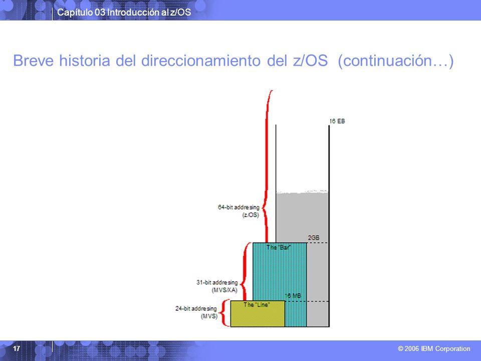 Breve historia del direccionamiento del z/OS (continuación…)
