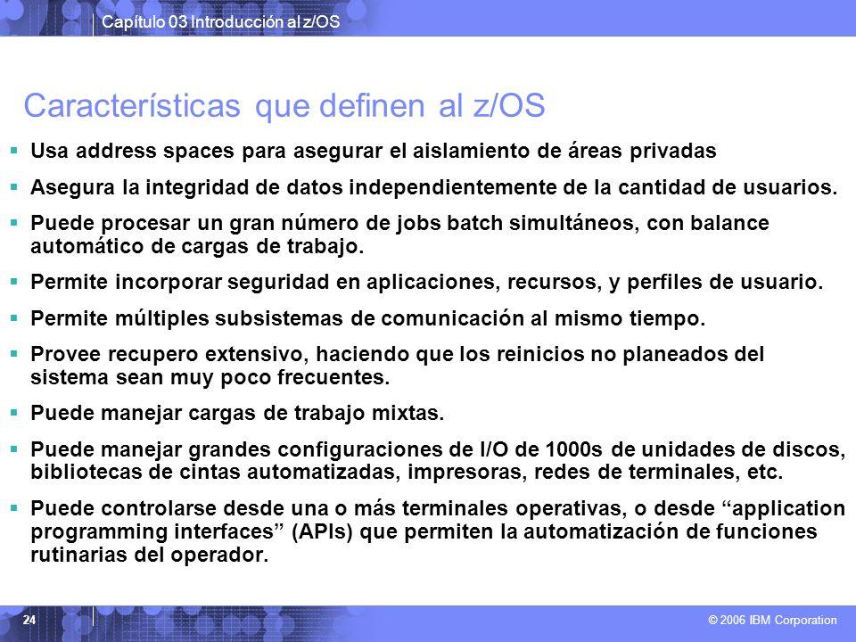Características que definen al z/OS