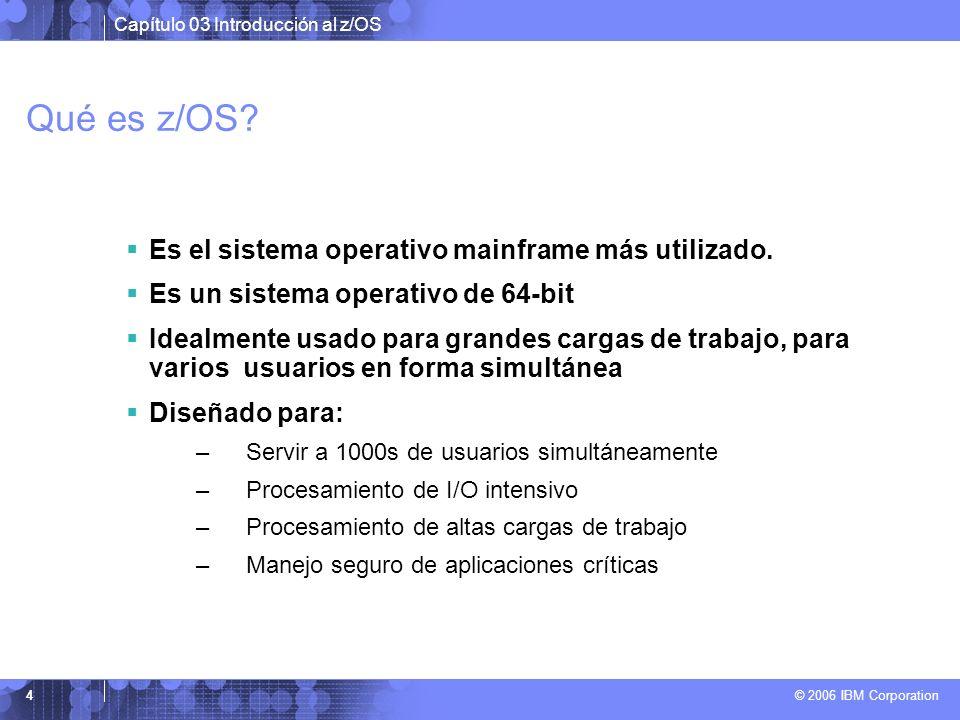 Qué es z/OS Es el sistema operativo mainframe más utilizado.