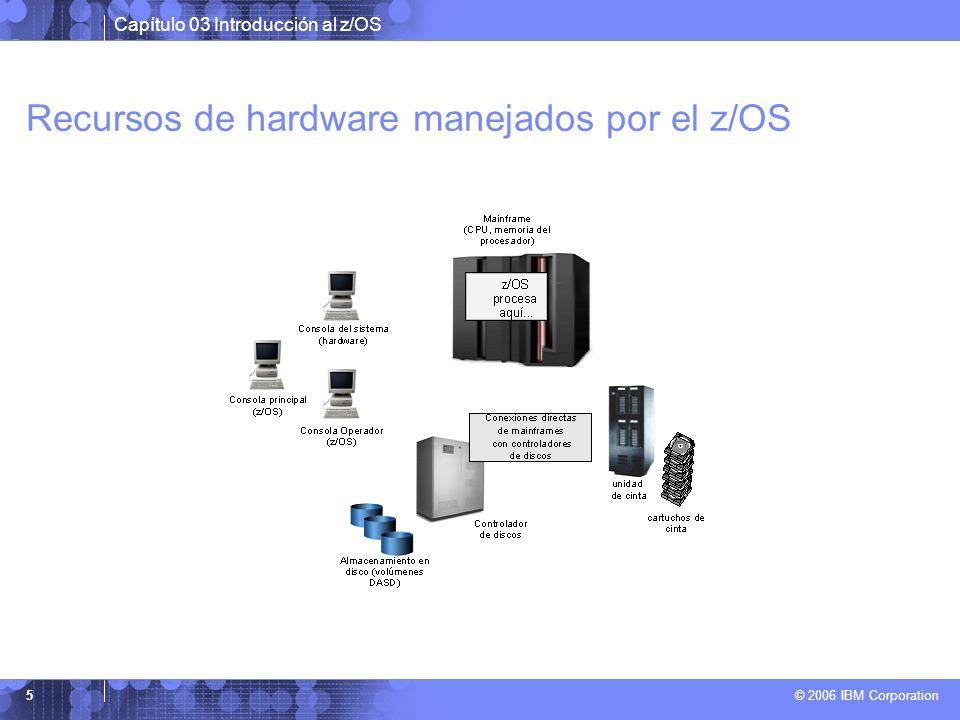 Recursos de hardware manejados por el z/OS