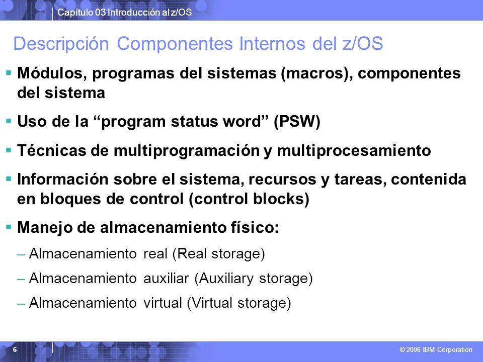 Descripción Componentes Internos del z/OS