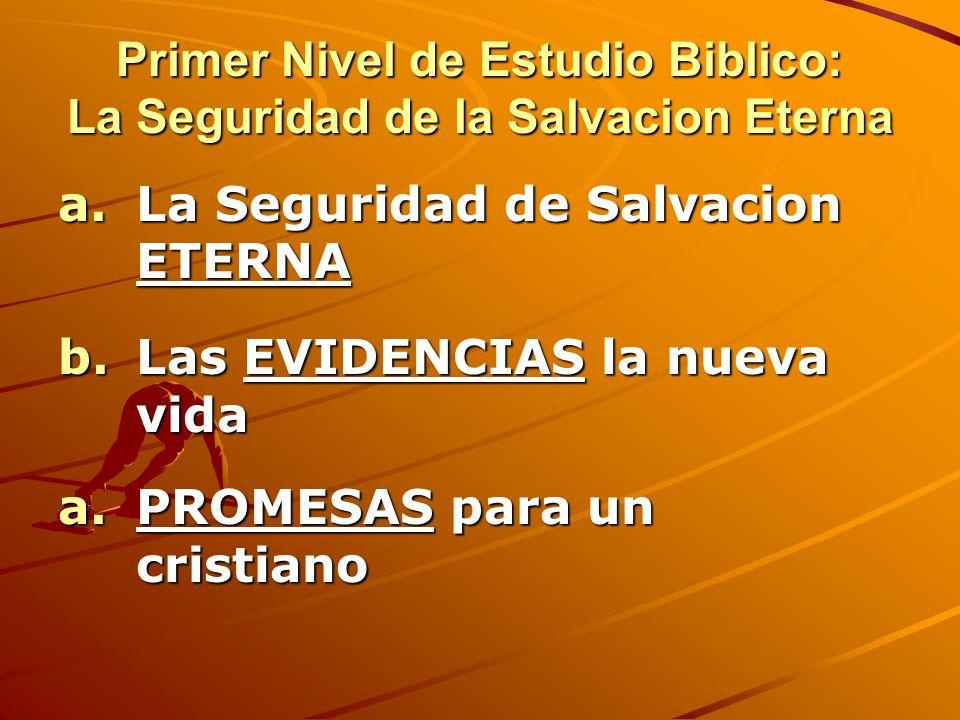 Primer Nivel de Estudio Biblico: La Seguridad de la Salvacion Eterna