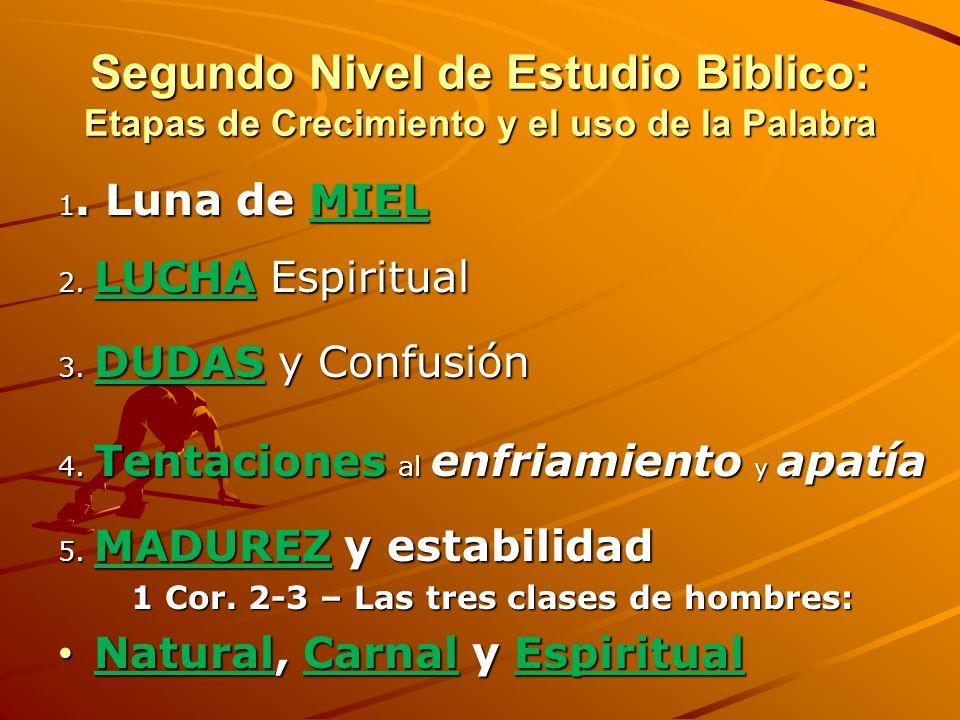 1 Cor. 2-3 – Las tres clases de hombres: