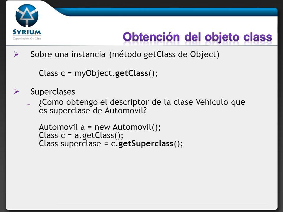 Obtención del objeto class