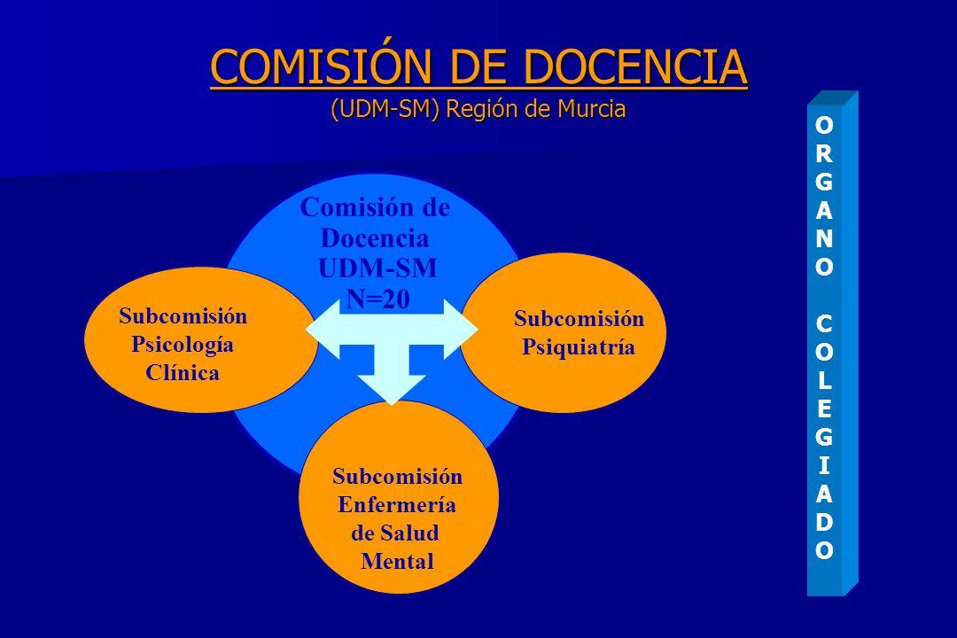 COMISIÓN DE DOCENCIA (UDM-SM) Región de Murcia