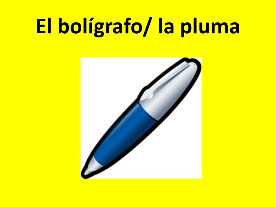 El bolígrafo/ la pluma