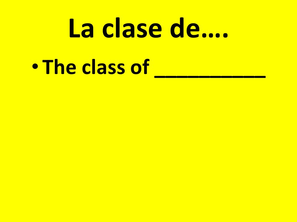 The class of __________