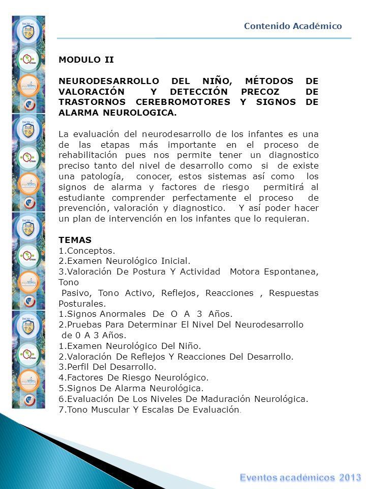 Eventos académicos 2013 MODULO II