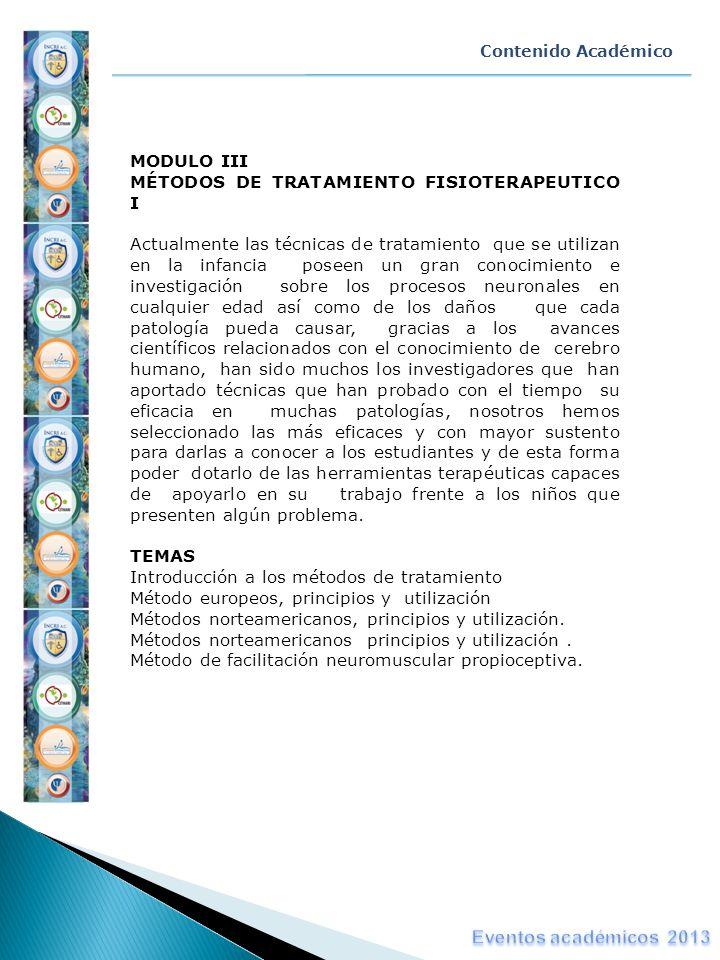 Eventos académicos 2013 MODULO III